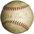 Autographs:Baseballs, Circa 1934 Babe Ruth Single Signed Baseball. Now deep into hiseighties, our consignor still clearly recalls the thrill of ...