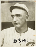 Baseball Collectibles:Photos, Circa 1919 Joe Jackson Photograph by Conlon. Is there a terriblesecret burning behind those dark eyes? This masterful port...