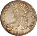 Bust Half Dollars, 1807 50C Capped Bust, Large Stars AU58 NGC....
