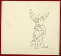 Animation Art:Production Drawing, Bugs Bunny Animation Production Drawing Original Art (Warner Bros.,undated). ...