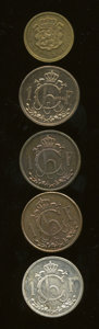 Luxembourg, Luxembourg: Republic Patterns,... (Total: 5 coins)