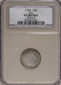 Early Dimes, 1796 10C --Tooled--NCS. VF Details....