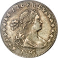 Early Half Dimes: , 1797 H10C 15 Stars XF40 PCGS. PCGS Population (15/63). NGC Census:(10/99). Mintage: 44,527. Numismedia Wsl. Price for NGC/...