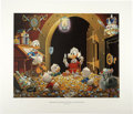"""Original Comic Art:Miscellaneous, Carl Barks - """"This Dollar Saved My Life at Whitehorse"""" RegularEdition Lithograph #14/345 (Another Rainbow, 1994).... (Total: 2Items)"""