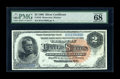 Large Size:Silver Certificates, Fr. 243 $2 1886 Silver Certificate PMG Superb Gem Uncirculated 68EPQ....
