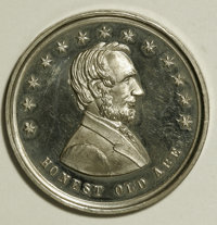 """Select Uncirculated 1864 """"Honest Old Abe"""" Medal"""
