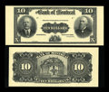 Canadian Currency: , Montreal, PQ- The Bank of Montreal $10 Sep. 3, 1912 Ch. # 505-52-04P Face and Back Proofs. ... (Total: 2 notes)