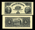 Canadian Currency: , Montreal, PQ- The Bank of Montreal $5 Sep. 3, 1912 Ch. # 505-52-02PFace and Back Proofs. ... (Total: 2 notes)