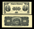 Canadian Currency: , Montreal, PQ- The Bank of Montreal $10 Jan. 2, 1904 Ch. # 505-48-04P Face and Back Proofs. ... (Total: 2 notes)