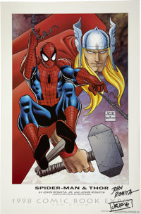 John Romita Sr. and John Romita Jr. - Signed Spider-Man and Thor Poster (Graphitti Designs, 1998)