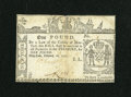 Colonial Notes:New York, New York February 16, 1771 £1 Very Fine....