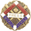 Baseball Collectibles:Others, 1939 World Series (New York Yankees) Press Pin. The Centennial season was one of baseball's most notable, and despite the lo...