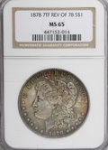 Morgan Dollars, 1878 7/8TF $1 Weak MS65 NGC....