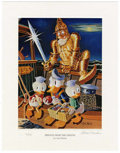"""Original Comic Art:Miscellaneous, Carl Barks - """"Menace From the Grotto"""" Miniature Lithograph LimitedEdition Print #14/595 (Another Rainbow, 1996).... (Total: 2 Items)"""