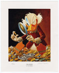 "Original Comic Art:Miscellaneous, Carl Barks - ""The Expert"" Miniature Lithograph Limited Edition Print #14/595 (Another Rainbow, 1997).... (Total: 2 Items)"