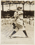 Autographs:Photos, 1940's Babe Ruth Signed Photograph. This classic image from thelens of the era's most noteworthy baseball photographer Geo...