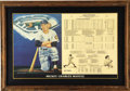 Autographs:Others, 1980's Mickey Mantle Signed Print to Barry Halper. The Mick pays tribute to the wife of esteemed late collector Barry Halpe...