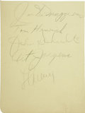 Autographs:Others, Circa 1938 Lou Gehrig & Joe DiMaggio Signed Album Page. One lucky fan armed with an autograph album and a pencil earned thi...