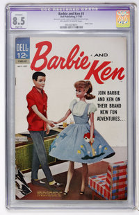 Barbie and Ken #3 (Dell, 1963) CGC Apparent VF+ 8.5 Slight (A) Off-white to white pages