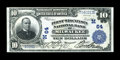 National Bank Notes:Wisconsin, Milwaukee, WI - $10 1902 Plain Back Fr. 635 The First NB Ch. # (M)64. ...