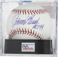 "Autographs:Baseballs, Johnny Bench ""ACT 99"" Single Signed Baseball, PSA Mint+ 9.5. In1999, a Major League Baseball All-Century Team was selected ..."