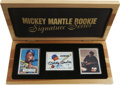 Autographs:Others, Mickey Mantle Signed Porcelain Cards Lot of 2. Special limited-run edition brings us each of Mickey Mantle's debut Bowman a...