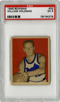 Basketball Cards:Singles (Pre-1970), 1948 Bowman William Holzman #32 PSA EX 5. While many will rememberRed Holzman for leading the New York Knick to championsh...
