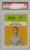 Basketball Cards:Singles (Pre-1970), 1961-62 Fleer Bob Cousy #10 PSA EX 5. The Hall of Fame point guardin Red Auerbach's dynasty Boston Celtics makes for an at...