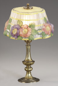 AN AMERICAN ART GLASS PUFFY BOUDOIR LAMP The Pairpoint Company, New Bedford, Massachusetts, Early 20th Century