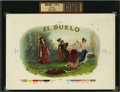 Antique Stone Lithography:Cigar Label Art, El Duelo Cigar Inner Label Proof,...