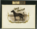 Antique Stone Lithography:Cigar Label Art, Dan Patch Cigar Inner Label Proof,...