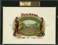 Antique Stone Lithography:Cigar Label Art, Philmora Cigar Inner Label Proof for Tableporter Brothers, New York,...