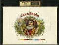 Antique Stone Lithography:Cigar Label Art, Jack Robin Cigar Inner Label Proof,...