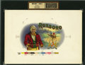 Antique Stone Lithography:Cigar Label Art, Roxboro Cigar Inner Label Proof,...