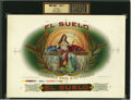 Antique Stone Lithography:Cigar Label Art, El Suelo Cigar Inner Label Proof by Lithographers Heywood,Strasser & Voigt, New York,...