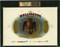 Antique Stone Lithography:Cigar Label Art, The Wellington Brand Cigar Inner Label Proof,...