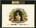 Antique Stone Lithography:Cigar Label Art, La Garcita Cigar Inner Label Proof by the AmericanLithographic Co., New York,...