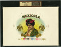Antique Stone Lithography:Cigar Label Art, Mexicola Cigar Inner Label Proof,...