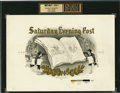 Antique Stone Lithography:Cigar Label Art, Saturday Evening Post Cigar Inner Label Proof,...