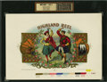 Antique Stone Lithography:Cigar Label Art, Highland Reel Cigar Inner Label Proof by F. Heppenheimer'sSons Lithographers, New York, 1898,...