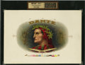 Antique Stone Lithography:Cigar Label Art, Dante Inner Proof Cigar Label....