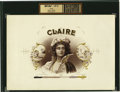 Antique Stone Lithography:Cigar Label Art, Claire Cigar Inner Label Proof by Heywood, Strasser &Voigt Lithographers, New York,...
