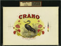 "Antique Stone Lithography:Cigar Label Art, Crano ""It Fills the Bill"" Inner Proof Cigar Label by S. P.Kinard & Son...."