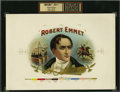Antique Stone Lithography:Cigar Label Art, Robert Emmet Inner Proof Cigar Label by Hummell & Co....