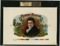 Antique Stone Lithography:Cigar Label Art, Robert Fulton Inner Proof Cigar Label....