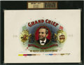 "Antique Stone Lithography:Cigar Label Art, Grand Chief Past Brotherhood of Locomotive Engineers ""TheGreatest Labor Leader of Them All"" Inner Proof Cigar Label b..."