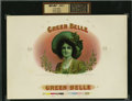 Antique Stone Lithography:Cigar Label Art, Green Belle Inner Proof Cigar Label by Heywood, Strasser & Voigt, Litho. Co. N.Y....