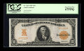 Large Size:Gold Certificates, Fr. 1167 $10 1907 Gold Certificate PCGS Superb Gem New 67PPQ....