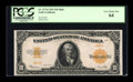 Large Size:Gold Certificates, Fr. 1173a $10 1922 Mule Gold Certificate PCGS Very Choice New 64....