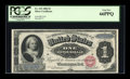 Large Size:Silver Certificates, Fr. 215 $1 1886 Silver Certificate PCGS Gem New 66PPQ....